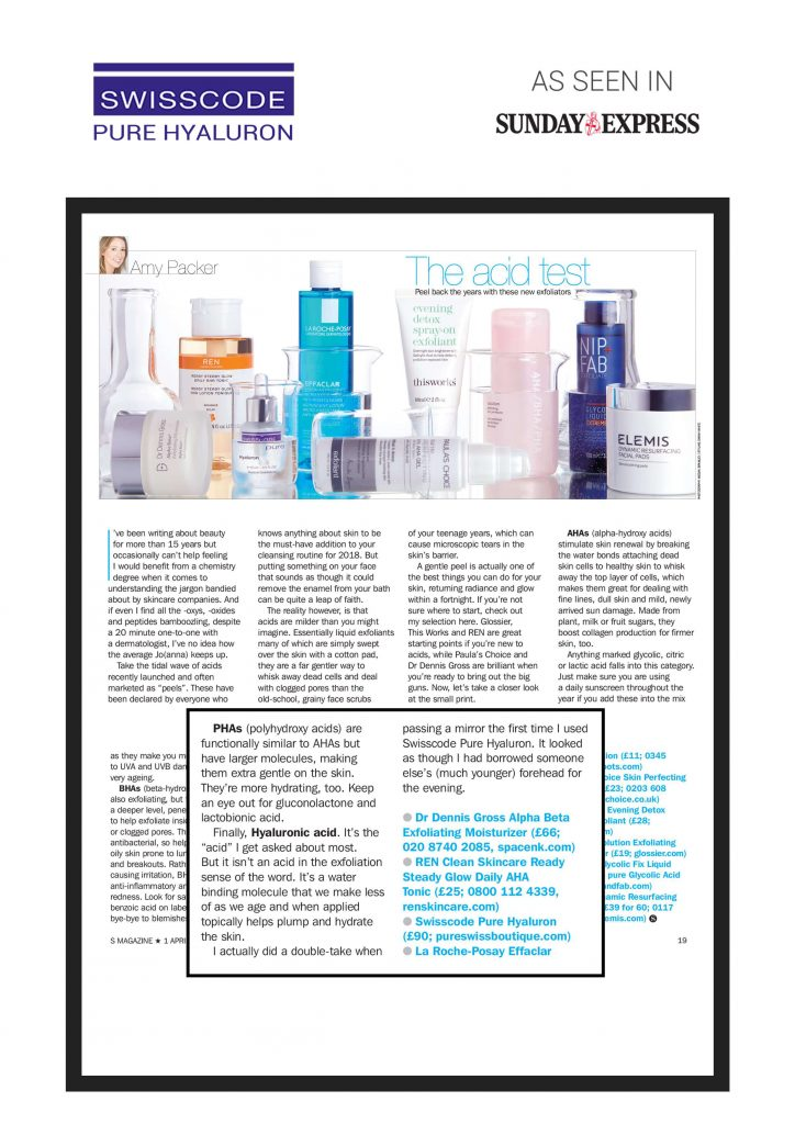 Press | Swiss Skin Care Products