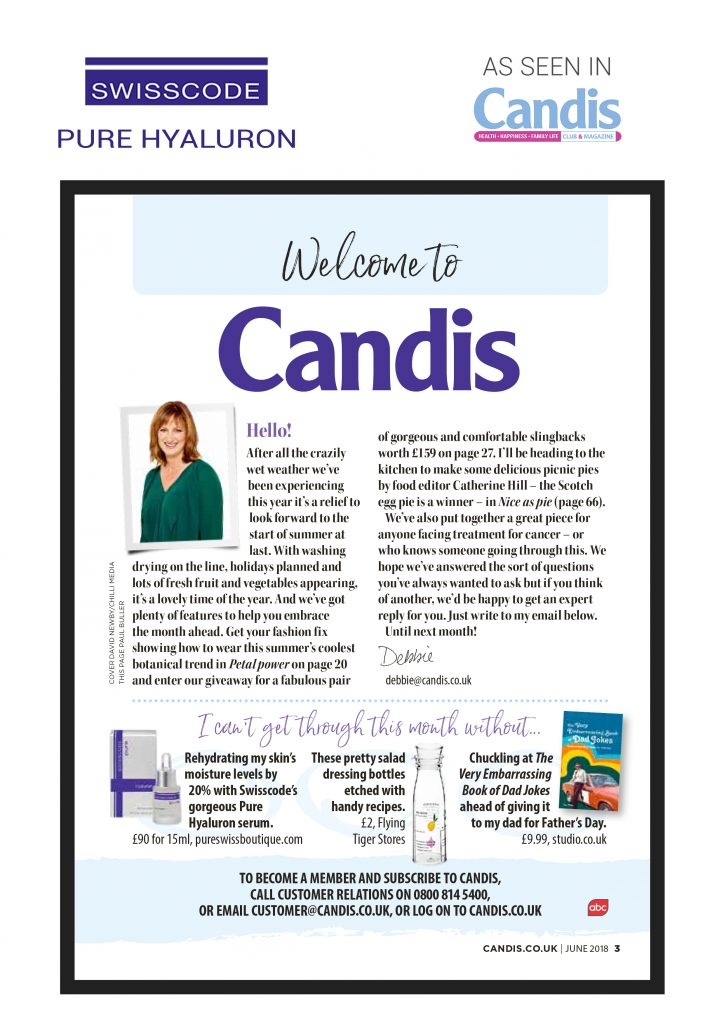 Candis Magazine - Swisscode Pure Hyaluron