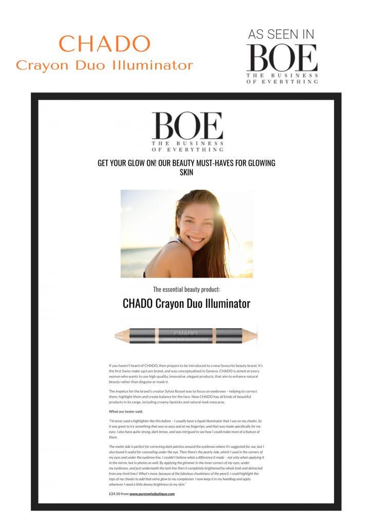 BOE Magazine - Duo Illuminateur CHADO